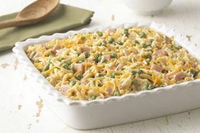 Cheddar Mac & Ham Casserole