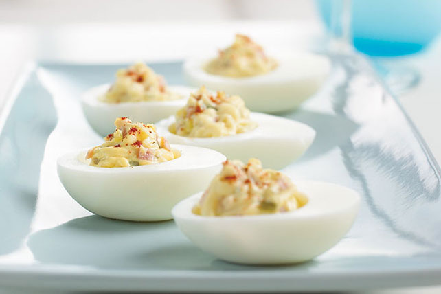 Easy Deviled Eggs & Ham