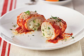 Italian Five-Cheese Chicken Roll-Ups