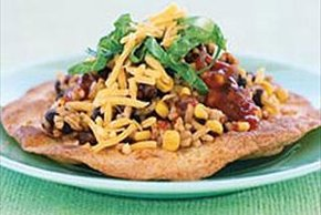 Black Bean & Rice Tostada