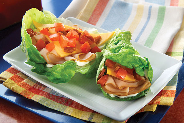 BLT Turkey Lettuce Wraps - Kraft Recipes