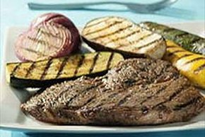 A.1. Cajun Grilled Steak and Vegetables