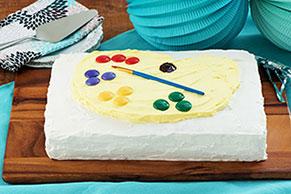 Artist's Palette Birthday Cake