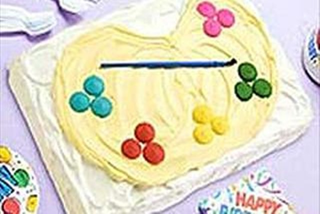 Artist's Palette Birthday Cake Image 1