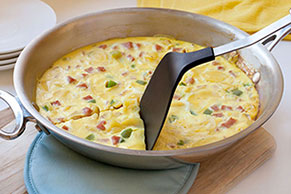 Cheesy Ham and Potato Frittata