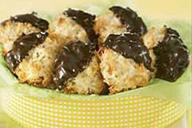 Chocolate-Dipped Coconut Macaroons Image 1