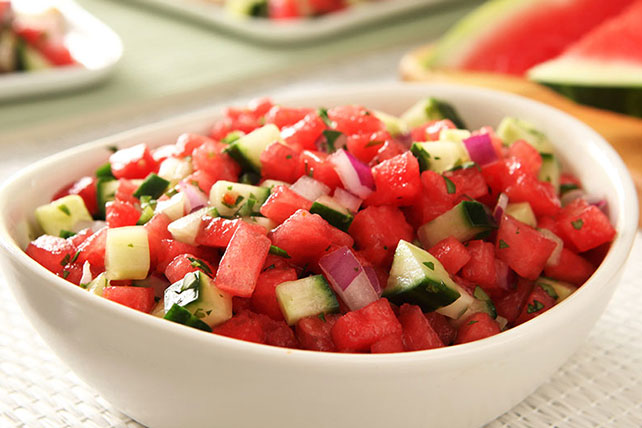 Fresh Watermelon Salsa