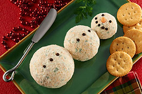 Snowman Cheese Ball Image 1