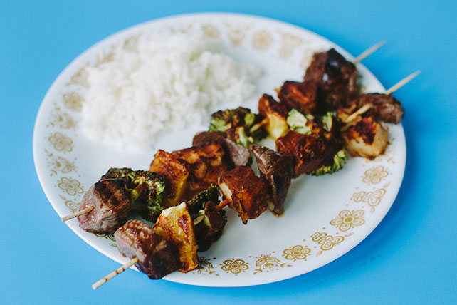 Beef and Vegetable Kabob Dinner Image 1