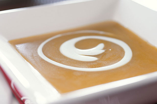 Butternut Squash Soup with Sour Cream