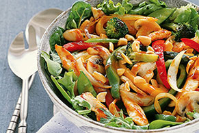 Peanutty Stir-Fry Salad
