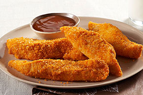 Easy Chicken Fingers with Paremesan