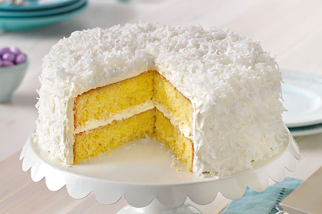Classic ANGEL FLAKE Coconut Cake