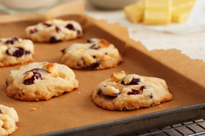 Cranberry-White Chocolate Shortbread