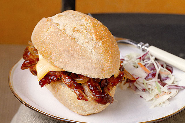 Slow-Cooker Hickory BBQ Pork Sandwiches Image 1