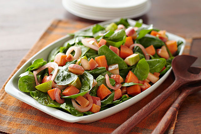 Sweet Potato, Apple and Spinach Salad Image 1