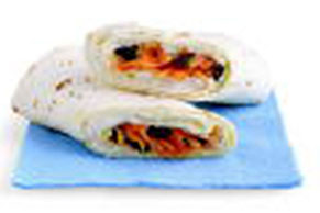 Carrot & Raisin Salad Roll-Up