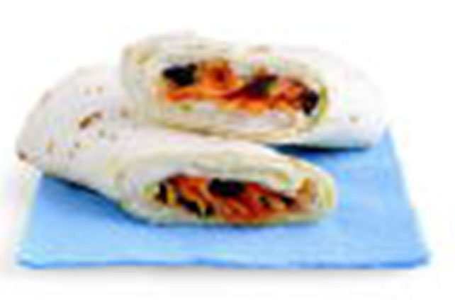 Carrot & Raisin Salad Roll-Up Image 1