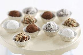 Trufas de chocolate y mantequilla de maní (cacahuate)