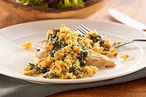 Chicken & Stuffing Florentine