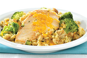 Chicken & Broccoli Stuffing Skillet