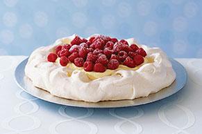 Creamy Vanilla-Raspberry Pavlova Recipe