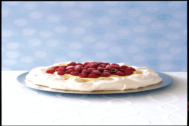 Creamy Vanilla-Raspberry Pavlova Image 1