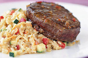 Beef Tenderloin with Creamy Risotto