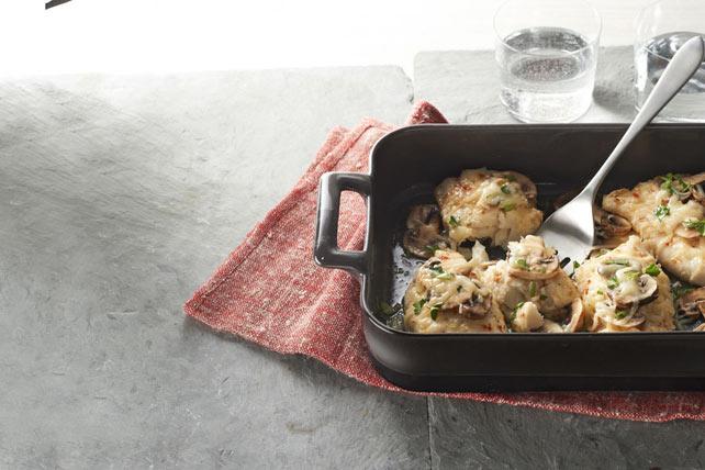 Plat de poisson, champignons et fromage au four Image 1