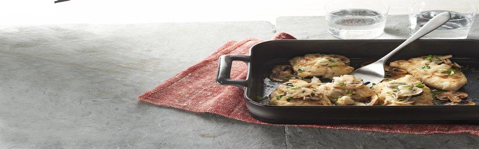 Cheesy Mushroom-Fish Bake Image 1