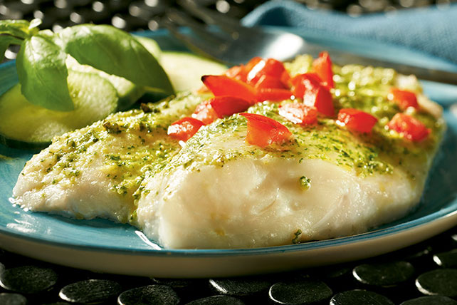 Creamy Pesto Fish Image 1