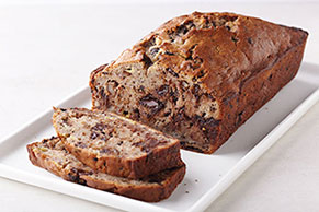 Chocolate Chunk Walnut Banana Bread