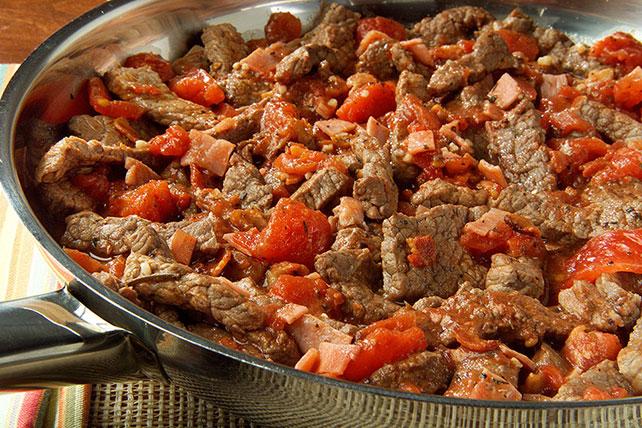 Carne de res con tomates a la sartén Image 1