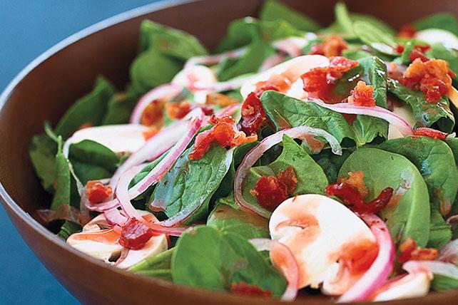 Ensalada caliente de espinacas y tocino Image 1
