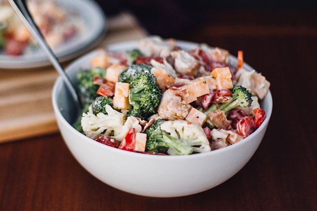 Broccoli| Cauliflower & Chicken Salad