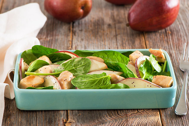 Chicken, Pear and Spinach Salad - Kraft Recipes