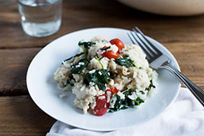 Chicken and Spinach Risotto