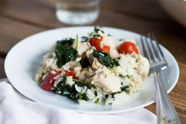 Chicken and Spinach Risotto Image 1