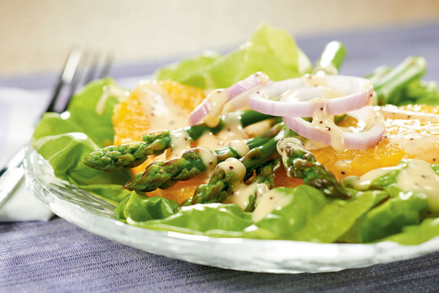 Asparagus| Boston Lettuce and Orange Salad