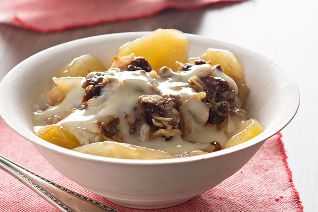 Slow-Cooker Apple Crisp with Warm Vanilla Sauce Image 1