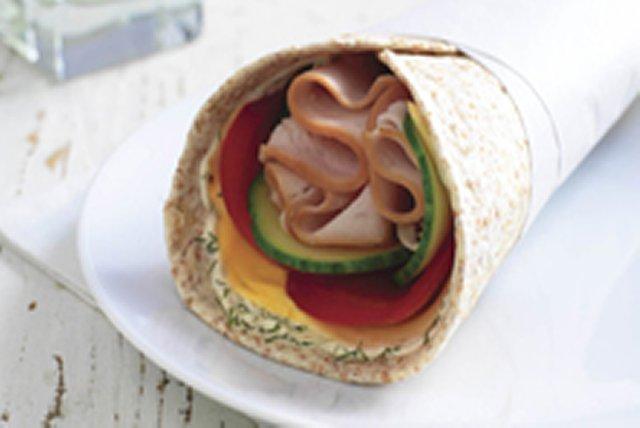 Sandwich roulé crémeux à la dinde Image 1