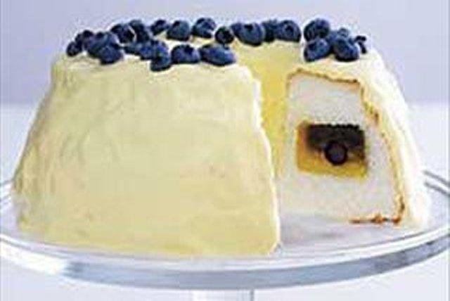 Pastel túnel secreto de moras azules y limón Image 1