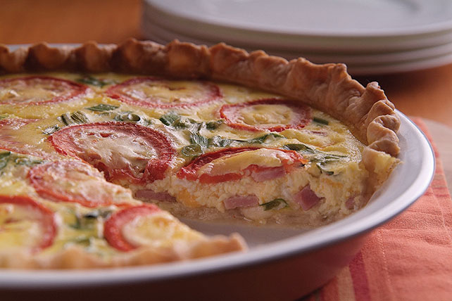 Canadian Bacon Quiche Image 1