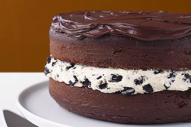 Chocolate-Covered OREO Cookie Cake - Kraft Recipes