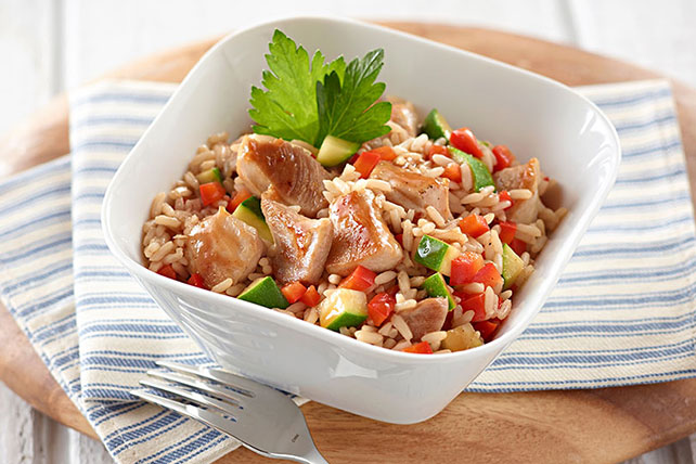 BBQ Chicken and Rice Skillet