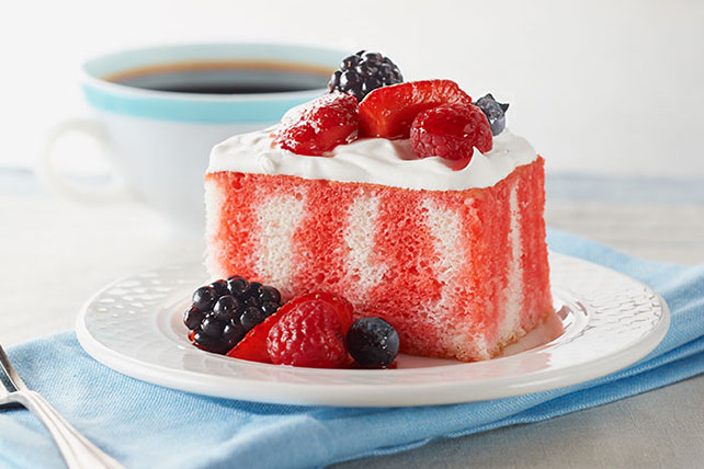 Summer Berry Poke Cake
