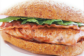 BBQ Salmon Bacon Sandwich