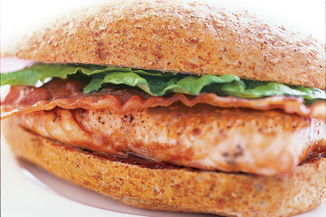 BBQ Salmon Bacon Sandwich Image 1