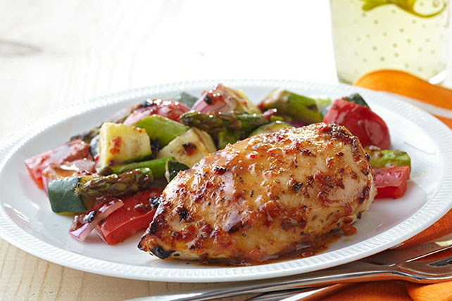 Grilled Chicken with Savory Summer Vegetables Image 1