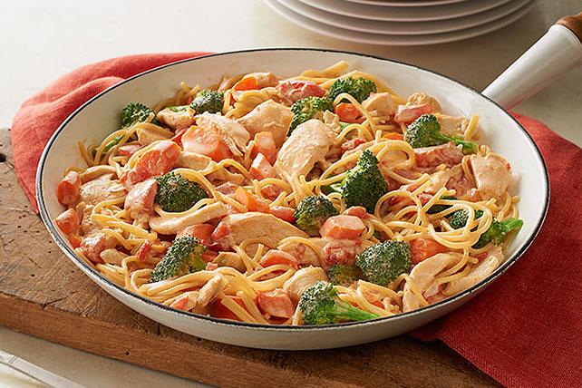 receta de espagueti con pollo
